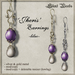 Silent Woods, 'Jheris' Earrings -lilac-