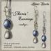 Silent Woods, 'Jheris' Earrings -indigo-