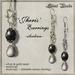 Silent Woods, 'Jheris' Earrings -obsidian-
