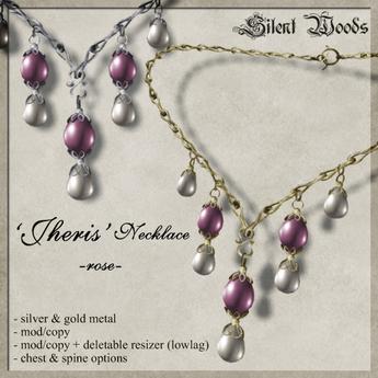 Silent Woods, 'Jheris' Necklace -rose-