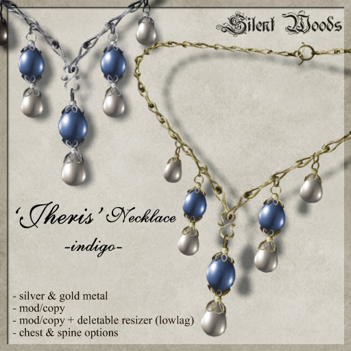 Silent Woods, 'Jheris' Necklace -indigo-