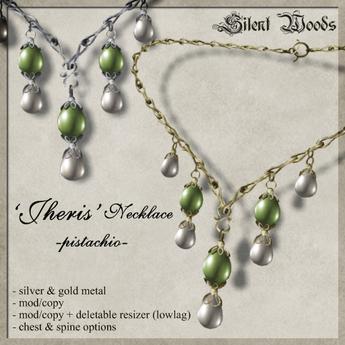 Silent Woods, 'Jheris' Necklace -pistachio-