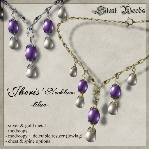 Silent Woods, 'Jheris' Necklace -lilac-