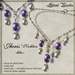 Sw 'jheris' necklace  lilac