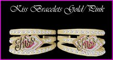 Kiss Bracelets Gold/Pink