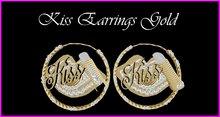 Kiss Earrings Gold