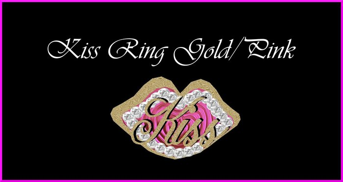 Kiss Ring Gold/Pink