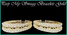 Peep My Swagg Bracelets Gold
