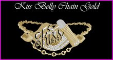 Kiss Belly Chain Gold
