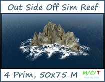 Free Gift Out Side Off Sim Reef with Wave 4 Prim 50x75 M Footprim