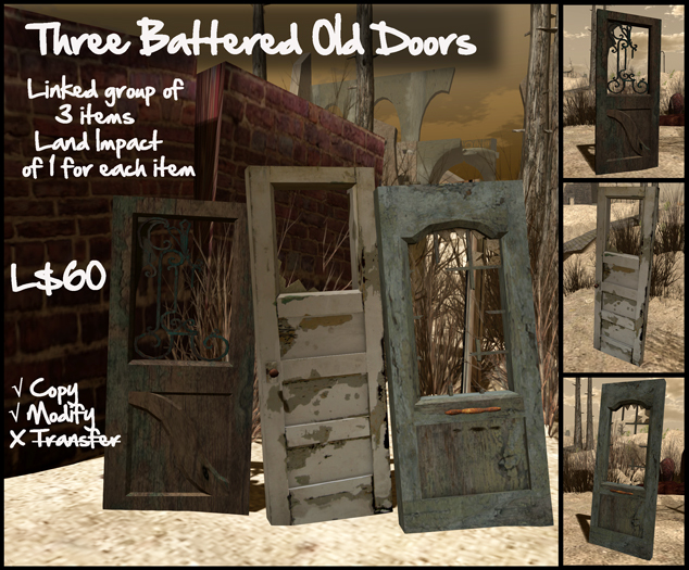 Three Battered Old Doors