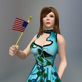 Animated American Flag box