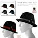 Rock star V.3 mesh fedora hat 4 colors boxed