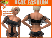 """""""REAL FASHION"""" One piece swimwear with sleeves - DEMO"""