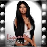 .:{Rumina}:. Liquorice Mesh Hair - Black Scale