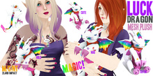 (Magic!) Luck Dragon - Mesh Plush ~silentsparrow~ Rainbow