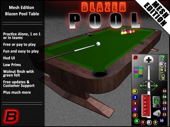 Blazen Pool Table Mesh Edition