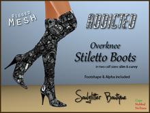 *Soulglitter* Mesh Overknee Stiletto Boots - Addicted