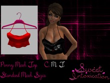 ::Sweet Intoxication:: Penny Mesh Top - Red