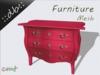 ::db furniture:: Commode rose 3 drawers