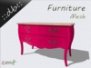 ::db furniture:: Commode rose 2 drawers