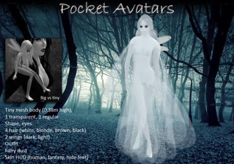 Pocket Avatars, complete tiny mesh avatar, petite in size: The Banshee, mythology, folklore spirit DEMO