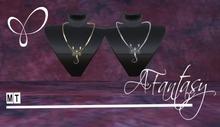 AFantasy Set of 2 'Scorpio' Necklaces 1-Gold 1-Silver