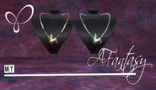 AFantasy Set of 2 'Sagitarius' Necklaces 1-Gold 1-Silver