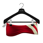 -Slore- Mesh MicroMini Red Latex Skirt