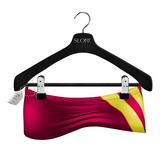-Slore- Mesh MicroMini Pink Latex Skirt