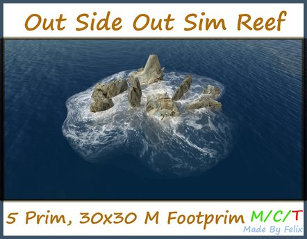 Free Gift Out Side Off Sim Reef with Wave 5 Prim  Promotion Sale