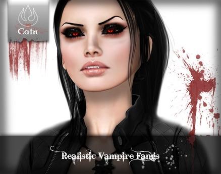 Cain - Realistic Vampire fangs
