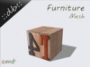 ::db furniture:: printed numbers and letters decor