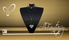 AFantasy Silver Cross w/Angel Wings Long Necklace