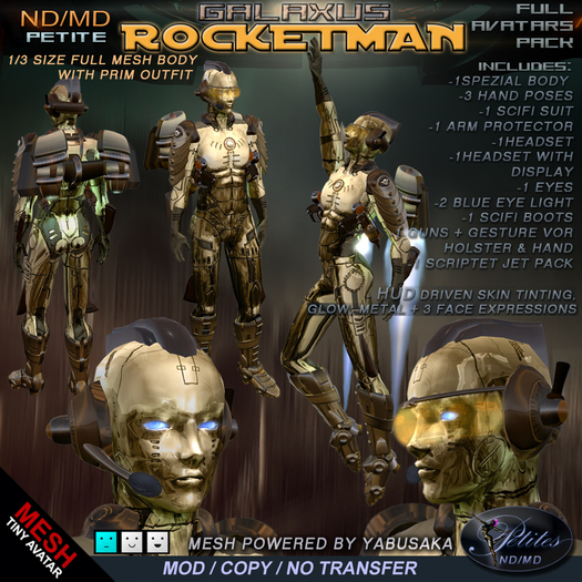 ND/MD PETITE ROCKETMAN  -  full avatar