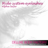 Deluxe Body Factory, hide system eyelashes, freebie gift
