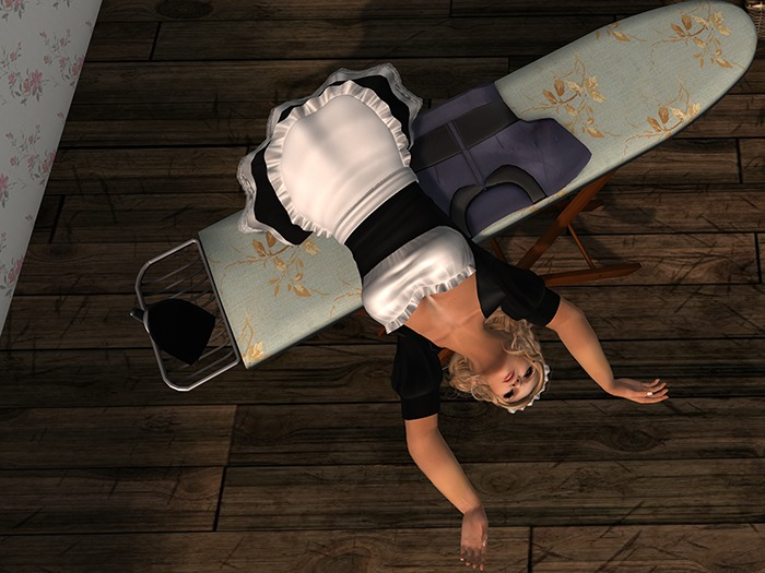 Dutchie mesh ironing board: 4 motion capture dance animations, 1 ironing animation, 1 lean and 1 pose