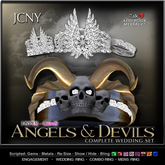 JCNY - Angels & Devils Collection, Hyper-Gems Wedding Rings