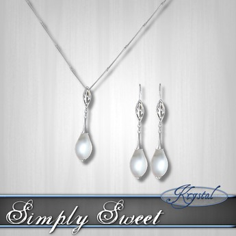 :::Krystal::: Simply Sweet - Set - Silver