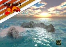 OUTSIDE SIM .:: ONE GRID ::. Simborder Rocks with waves/splash