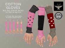 Lark - Cotton Gloves - Black