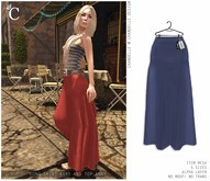 - CHANDELLE - Long Skirt Anny blue