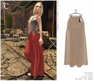 - CHANDELLE - Long Skirt Anny beige