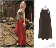 - CHANDELLE - Long Skirt Anny brown