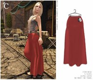 - CHANDELLE - Long Skirt Anny red