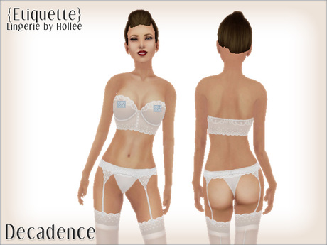 {Etiquette} Decadence - All White