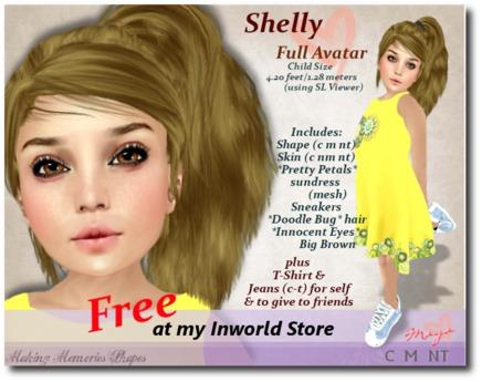Shelly Full Child Avatar - Free Inworld