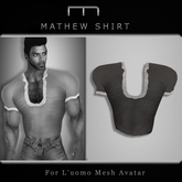 (M) Mathew Shirt - Dark (For L'uomo Mesh Avatar)