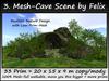 3. Mesh-Cave Scene by Felix 33 Prim = 20 x 15 x 9 m copy-mody