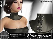 *Perception* Neck Corset -- Black Leather